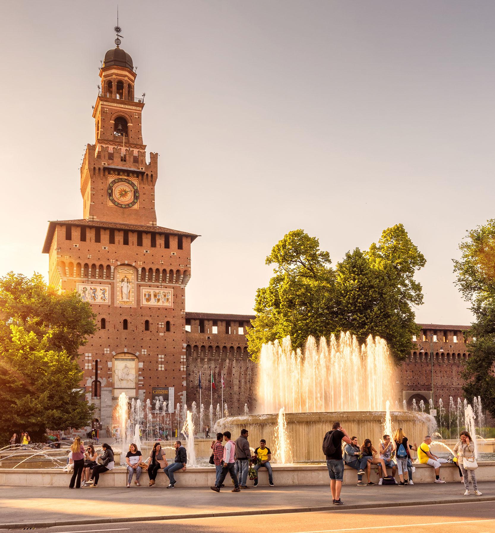 Castello Sforzesco, Piazza Castello, Milan, Italy